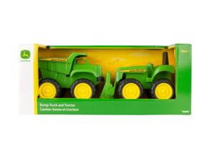 Tommy Toys JD Mini Tractor & Dump Truck-0