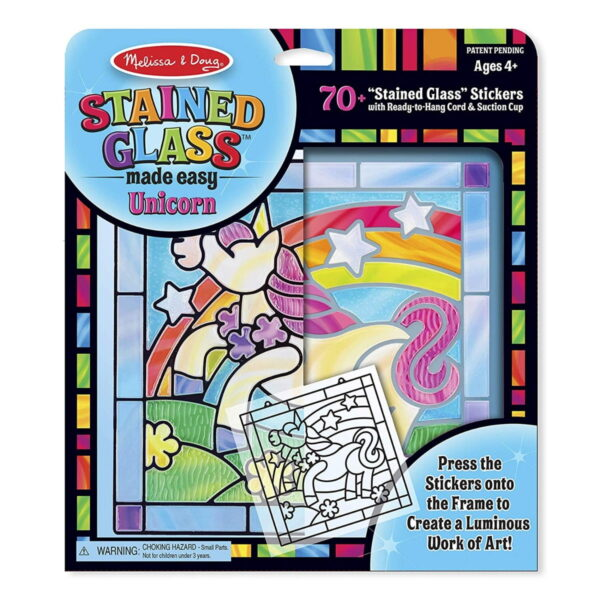 Melissa and Doug Stained Glass Unicorn-4918