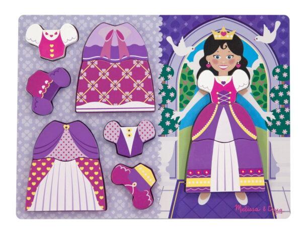 Melissa and Doug Princess Dress Up Chunky Puzzle-0