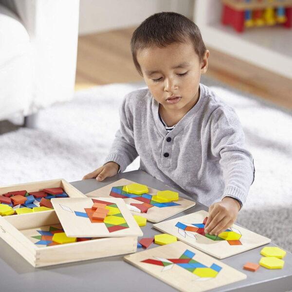 Melissa and Doug Pattern Blocks & Boards-4290