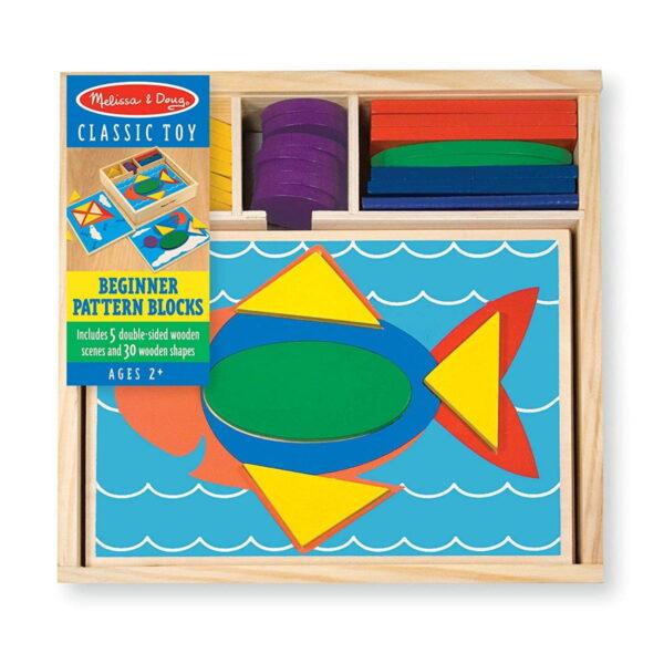 Melissa and Doug Beginner Pattern Blocks-4344