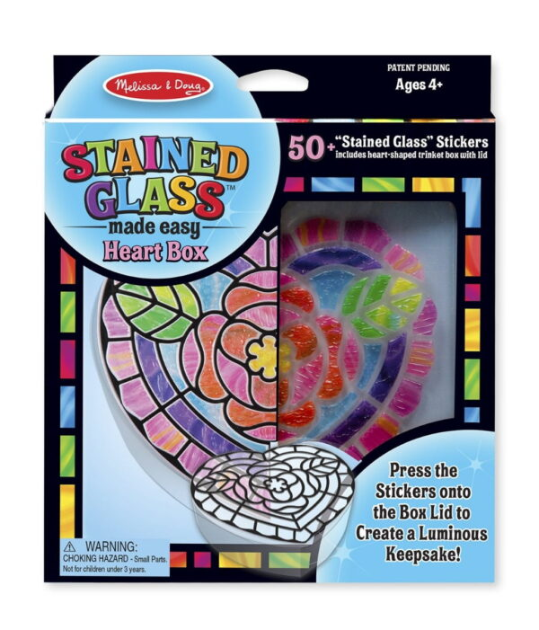 Melissa and Doug Stained Glass Heart & Rainbow-4908