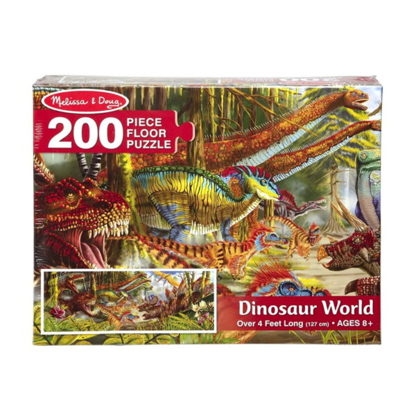 Melissa and Doug Dinosaur World Floor Puzzle-4819