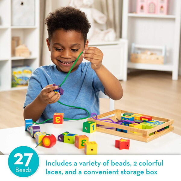 Melissa and Doug Lacing Beads in a Box-4540