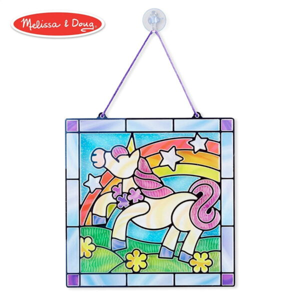 Melissa and Doug Stained Glass Unicorn-4915