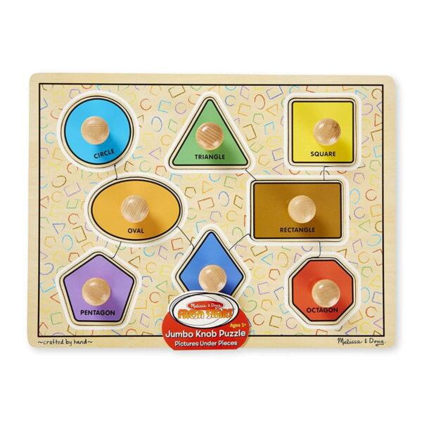 Melissa and Doug Geometric Shapes Peg Puzzle-4504