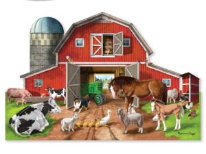 Melissa and Doug Busy Barn Shaped Floor Puzzle-0