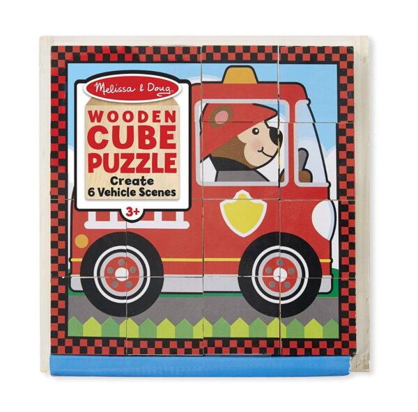 Melissa and Doug Vehicles Cube Puzzle-4380