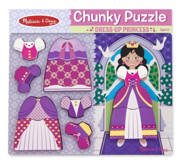 Melissa and Doug Princess Dress Up Chunky Puzzle-4830