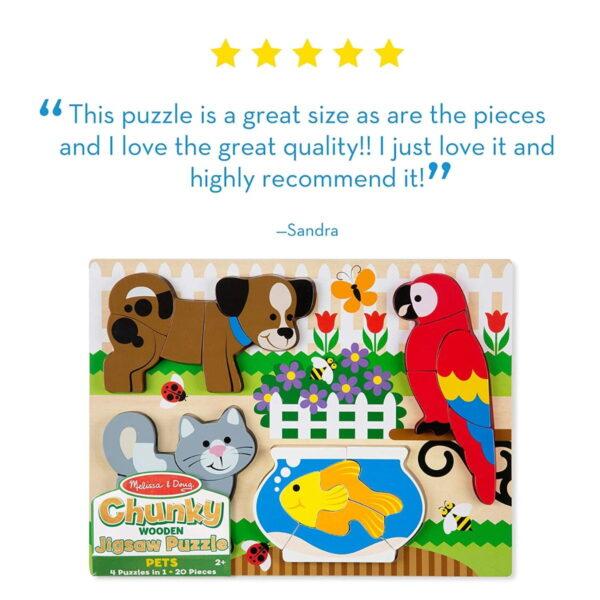 Melissa and Doug Chunky Jigsaw Puzzle Pets-4400