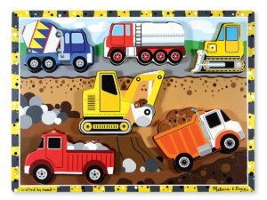 Melissa and Doug Construction Chunky Puzzle-0