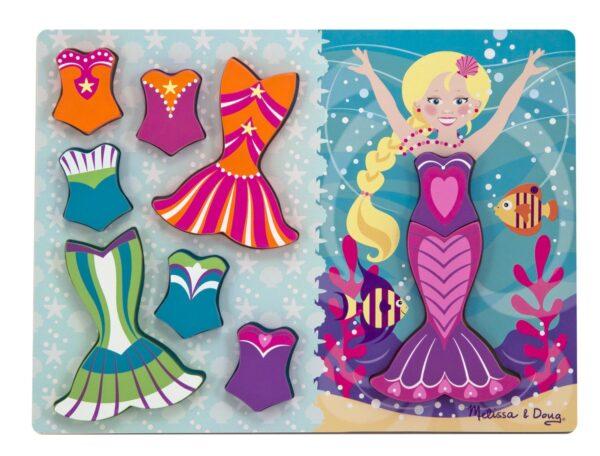Melissa and Doug Mermaid Dress Up Chunky Puzzle-0