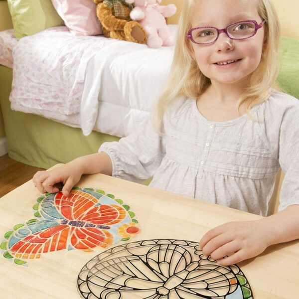 Melissa and Doug Stained Glass Butterfly-4911