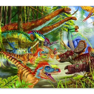 Melissa and Doug Dinosaur World Floor Puzzle-0