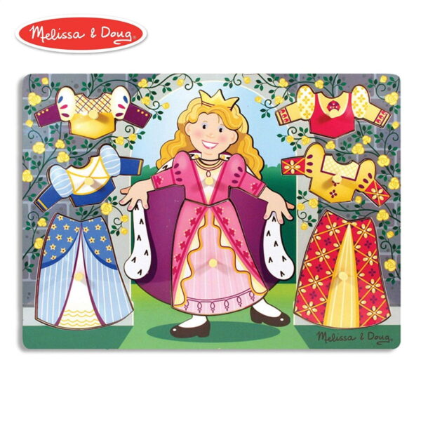 Melissa and Doug Wooden Peg Puzzle Princess-0