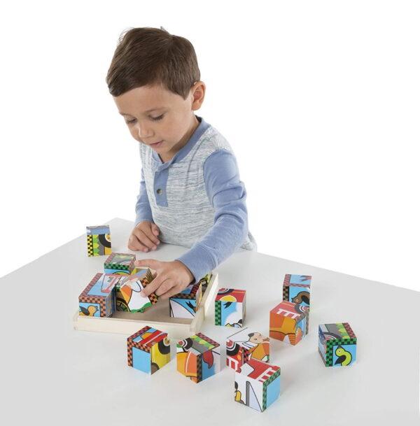 Melissa and Doug Vehicles Cube Puzzle-4378