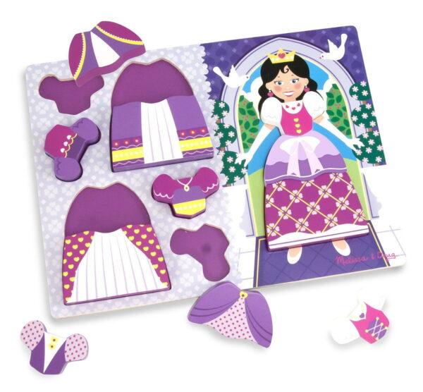 Melissa and Doug Princess Dress Up Chunky Puzzle-4829