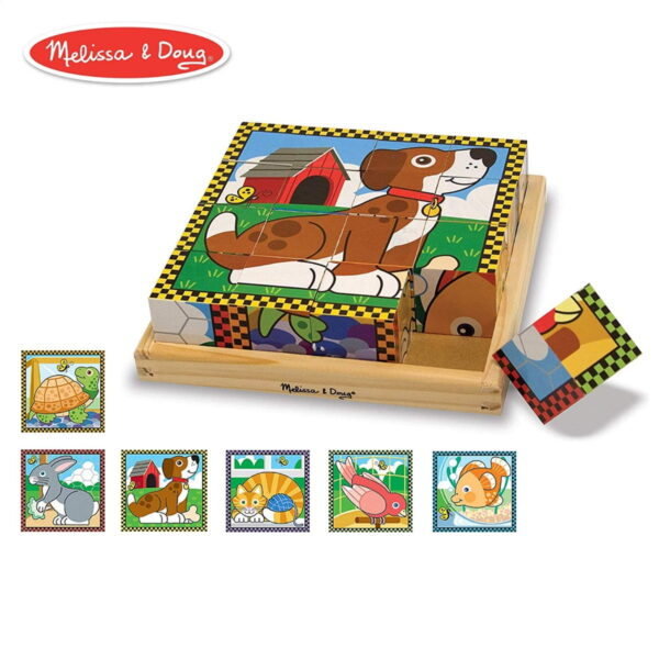 Melissa and Doug Pets Cube Puzzle-4537