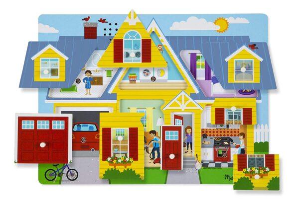 Melissa and Doug Around The House Puzzle-4368
