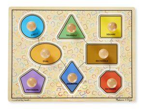 Melissa and Doug Geometric Shapes Peg Puzzle-0