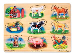 Melissa and Doug Classic Farm Sound Puzzle-0