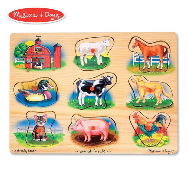 Melissa and Doug Classic Farm Sound Puzzle-0