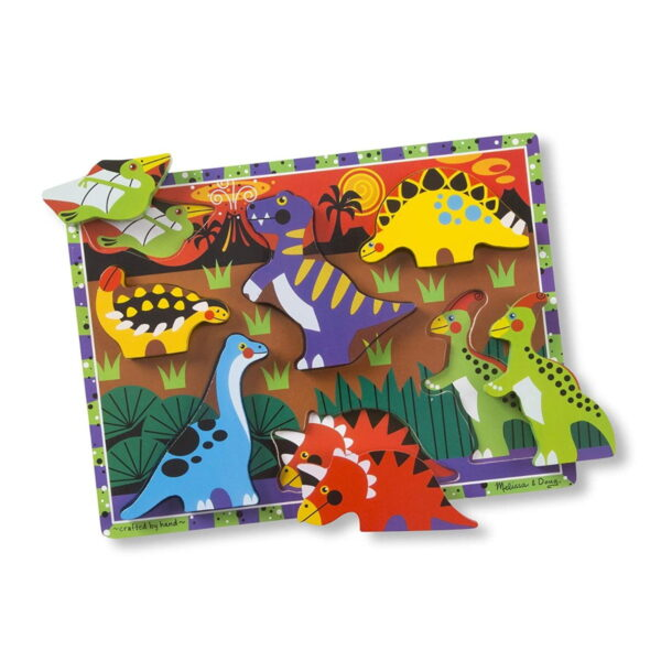 Melissa and Doug Dinosaurs Chunky Puzzle-4533