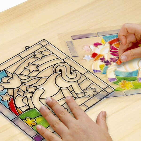 Melissa and Doug Stained Glass Unicorn-4916