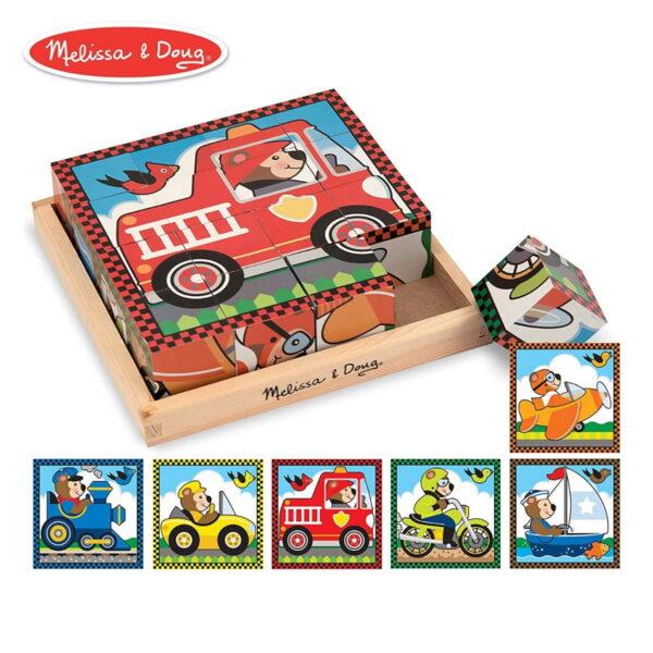 Melissa and Doug Vehicles Cube Puzzle-0