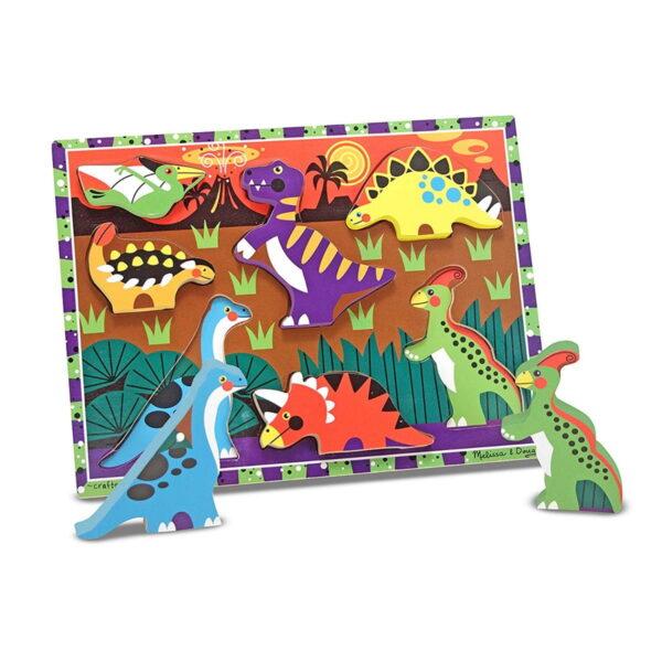 Melissa and Doug Dinosaurs Chunky Puzzle-4532