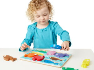 Melissa and Doug Colorful Wooden Puzzle Chunky-0