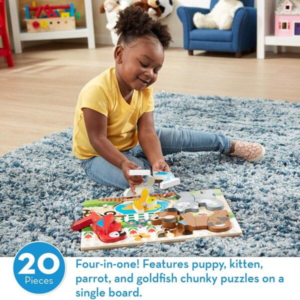 Melissa and Doug Chunky Jigsaw Puzzle Pets-4398