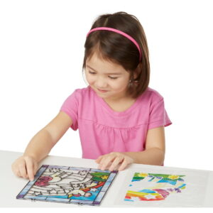 Melissa and Doug Stained Glass Unicorn-0