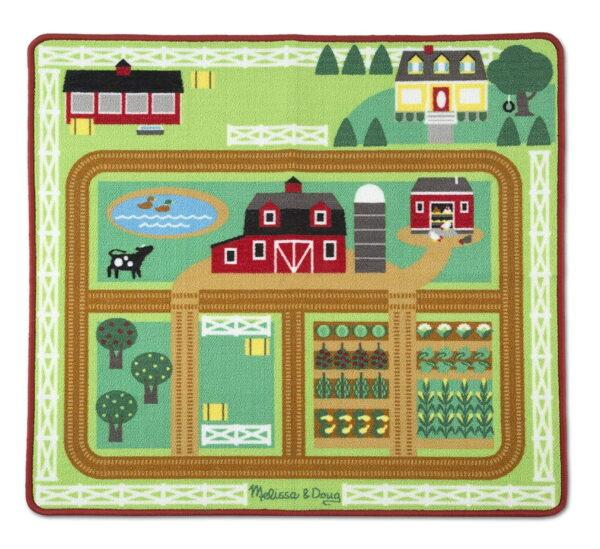 Melissa and Doug Around The Barnyard Farm Rug-0
