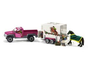 Schleich Pickup With Horse Box-0