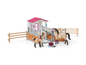 Schleich Horse Stall With Arab & Groom-0