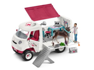 Schleich Mobile Vet With Hanoverian Foal-0