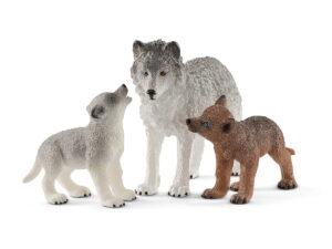 Schleich Mother Wolf W/Pup-0