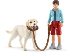 Schleich Walking W/Labrador Retriever-0