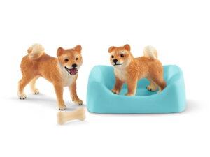 Schleich Shiba Incl/Mother & Puppy-0