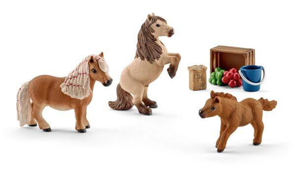 Schleich Miniature Shetland Pony Family-0