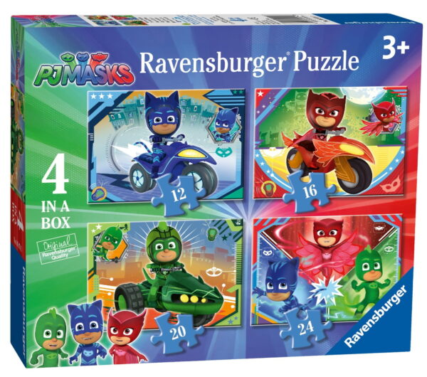Ravensburger PJ Masks 4 in a Box Puzzle