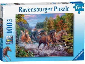 Ravensburger Rushing River Horses Puzzle-0