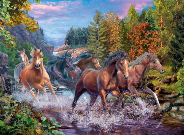 Ravensburger Rushing River Horses Puzzle