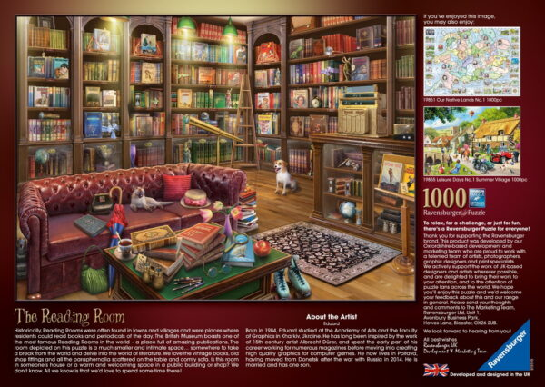 """Ravensburger """"The Reading Room"""" Puzzle"""