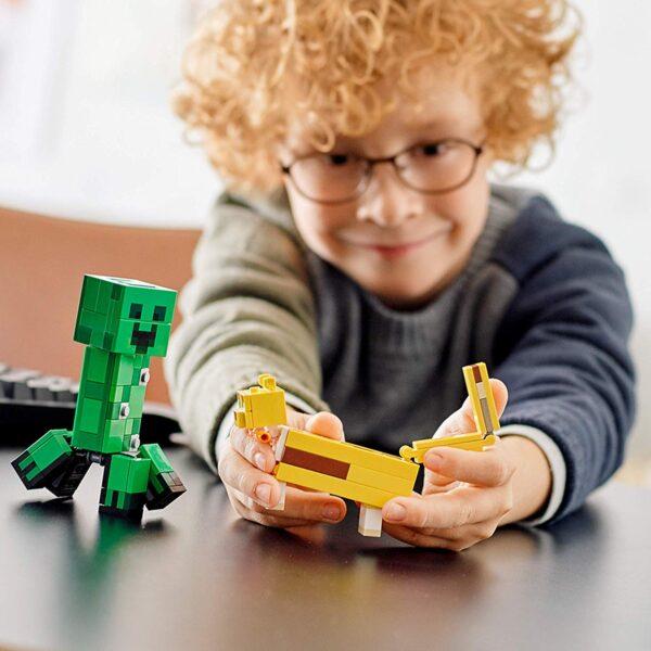 Lego Minecraft BigFig Creeper and Ocelot V29