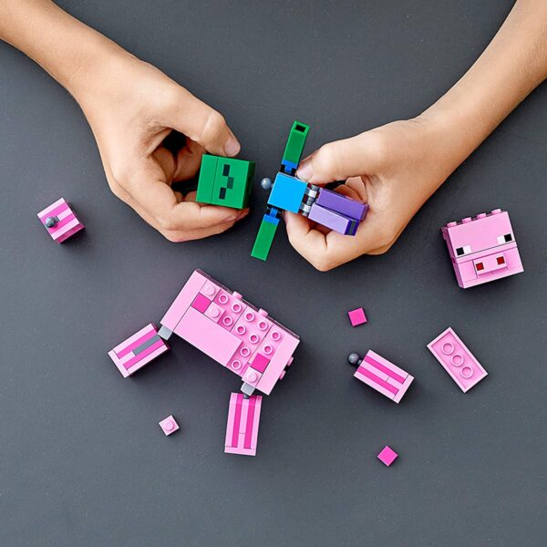 Lego Minecraft BigFig Pig With Baby Zombie V29