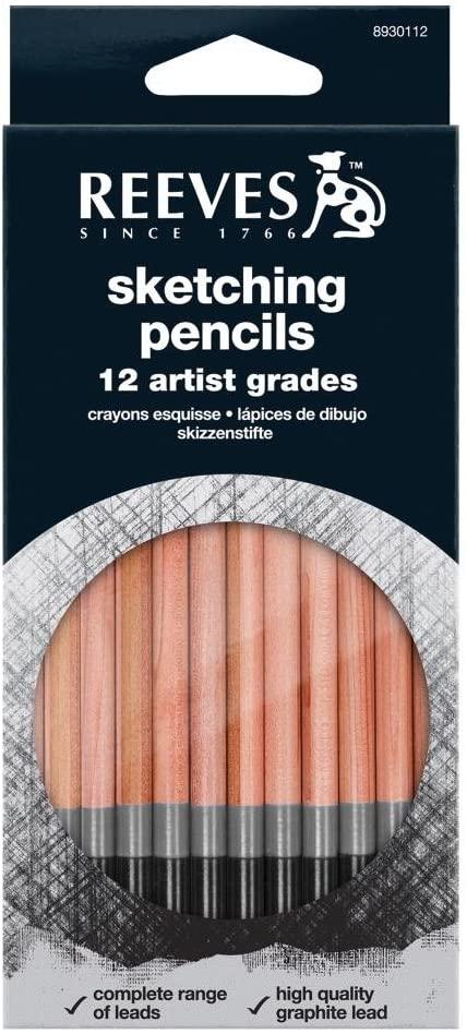 12 Artist Sketching Pencils