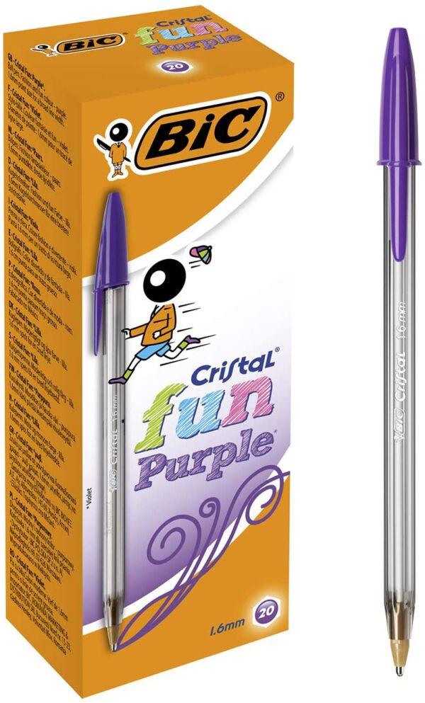 BIC 10 Cristal Ballpoint Pens Fun