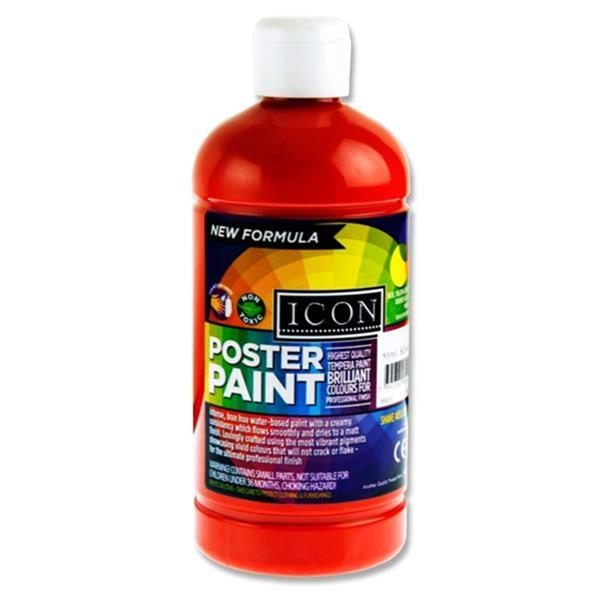 Icon Poster Paint 500 ml Scarlet
